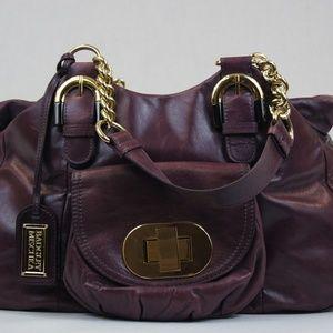 Badgley Mischka Purple Satchel